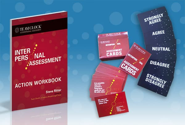 A montage of the Interpersonal Assessment booklet and cards